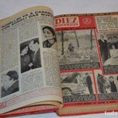 Coleccionismo de Revista Diez Minutos: DIEZ MINUTOS / TOMO CON 30 EJEMPLARES / DE ABRIL 1959 A MAYO 1960 -- ¡VINTAGE, MIRA FOTOS/DETALLES!. Lote 289876723