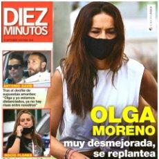 Coleccionismo de Revista Diez Minutos: REVISTA DIEZ MINUTOS: OLGA MORENO / MARTA SANCHEZ / GERARD BUTLER / CATHERINE ZETA JONES. Lote 289996888