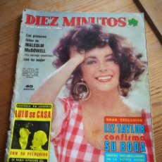 Coleccionismo de Revista Diez Minutos: REVISTA DÍEZ MINUTOS- PORTADA LIZ TAYLOR CONFIRMA SU BODA, N°1313.1976.. Lote 291225978