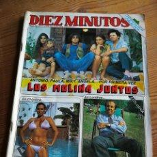 Coleccionismo de Revista Diez Minutos: REVISTA DIEZ MINUTOS-PORTADA LOS MOLINA JUNTOS,ROCÍO JURADO,BERTIN OSBORNE ELECTROCUTADO,N°1670,1983. Lote 291487643