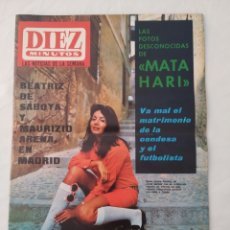 "Coleccionismo de Revista Diez Minutos: REVISTA DIEZ MINUTOS NUM.843,HA MUERTO CHE GUEVARA,MATA HARI,FRANCISKA,""BARBARELLA"". Lote 293354633"