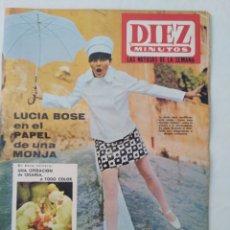 Coleccionismo de Revista Diez Minutos: REVISTA DIEZ MINUTOS NUM.847, LUCÍA BOSE, OPERACIÓN DE CESAREA, LESLIE CARON, BEATLES. Lote 293360028