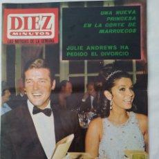 Coleccionismo de Revista Diez Minutos: REVISTA DIEZ MINUTOS NUM.849, ROGER MOORE,GRACE KELLY, CRISTINA GALBO, BETINA. Lote 293363228