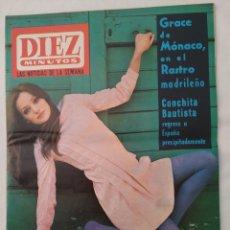 """Coleccionismo de Revista Diez Minutos: REVISTA DIEZ MINUTOS NUM.850, ROLLING STONES,""""HOGAROTEL 7"""",PALOMA VALDES,GRACE DE MÓNACO EN MADRID. Lote 293365568"""