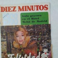 Coleccionismo de Revista Diez Minutos: REVISTA DIEZ MINUTOS NUM.853,GALA GOYESCA,KEITH RICHARD, RINGO STARR,ADAMO. Lote 293370668