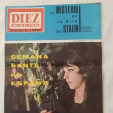 "Collezionismo di Rivista Diez Minutos: REVISTA DIEZ MINUTOS NUM.813, SEMANA SANTA,PETER SELLERS ""BOBO"",SONNY Y CHER, SHEILA. Lote 294827188"