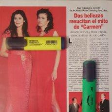 Coleccionismo de Revista Diez Minutos: REPORTAJE DE ARANTXA DEL SOL Y MARÍA PINEDA 09.05.97. Lote 296020853