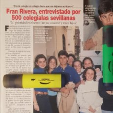 Coleccionismo de Revista Diez Minutos: REPORTAJE DE FRAN RIVERA 07.03.97. Lote 296031383