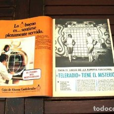 Coleccionismo de Revista Diez Minutos: TELERADIO / UN DOS TRES / MARIA CASAL. Lote 296826798