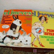 Coleccionismo de Revista El Jueves: LOTE DE 2 REVISTAS EL JUEVES 1978. Lote 9626013