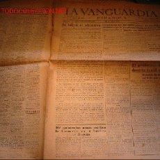 Coleccionismo de Revista El Jueves: DIARIO LA VANGUARDIA AÑO 1939. Lote 20253159