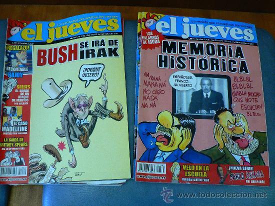 Coleccionismo de Revista El Jueves: JUEVES - LA REVISTA QUE SALE LOS MIERCOLES 6 revistas - Foto 3 - 26538871