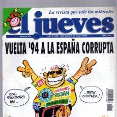 Coleccionismo de Revista El Jueves: EL JUEVES Nº 884,VUELTA 94 A LA ESPAÑA CORRUPTA.POSTER CENTRAL A DOS PAGINAS.. Lote 18635876