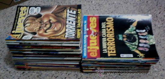 Coleccionismo de Revista El Jueves: LA REVISTA QUE SALE LOS MIÉRCOLES - EL JUEVES - LOTE DE 104 NUMEROS. - Foto 2 - 26557951