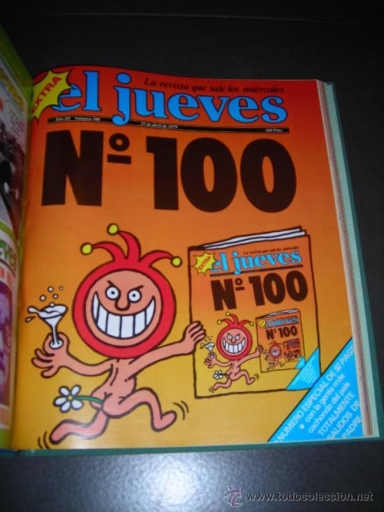 Coleccionismo de Revista El Jueves: (M-2) REVISTA EL JUEVES , DEL NUMERO 85 AL 100, TODOS SEGUIDOS, NUM 85 - 1979 ., NUM 100 - 1979 - Foto 3 - 22619694