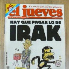 Coleccionismo de Revista El Jueves: REVISTA EL JUEVES. 1380. NOVIEMBRE 2003.. Lote 29507148