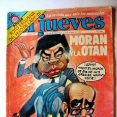 Coleccionismo de Revista El Jueves: EL JUEVES--Nº 383--AÑO 1984 ORIGINAL--MORAN Y LA OTAN. Lote 32629093