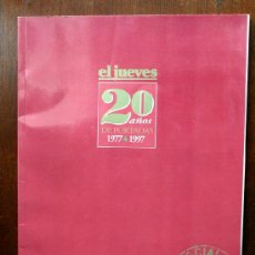 Coleccionismo de Revista El Jueves: EL JUEVES - 20 AÑOS DE PORTADAS 1977 & 1997 -. Lote 36501777