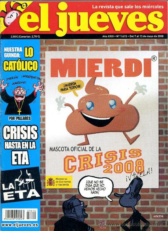REVISTA - EL JUEVES 1615 / 2008 (Coleccionismo - Revistas y Periódicos Modernos (a partir de 1.940) - Revista El Jueves)