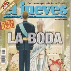 Coleccionismo de Revista El Jueves: REVISTA EL JUEVES Nº 1408 AÑO 2004. LA BODA. EXTRA REAL.. Lote 41689224