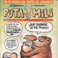 Coleccionismo de Revista El Jueves: REVISTA EL JUEVES PUTA MILI Nº 30 AÑO 1993. . Lote 41896362