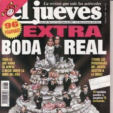 Coleccionismo de Revista El Jueves: REVISTA EL JUEVES Nº 1062 AÑO 1997. EXTRA BODA REAL. . Lote 41947352