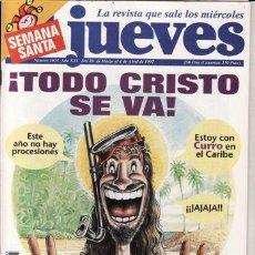 Coleccionismo de Revista El Jueves: REVISTA EL JUEVES Nº 1035. ¡TODO CRISTO SE VA!. . Lote 42027408