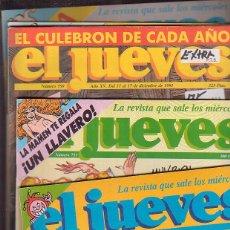 Coleccionismo de Revista El Jueves: REVISTA DE HUMOR EL JUEVES , AÑOS 90 - LOTE DE 13 EJEMPLARES EXTRAS. Lote 42152478