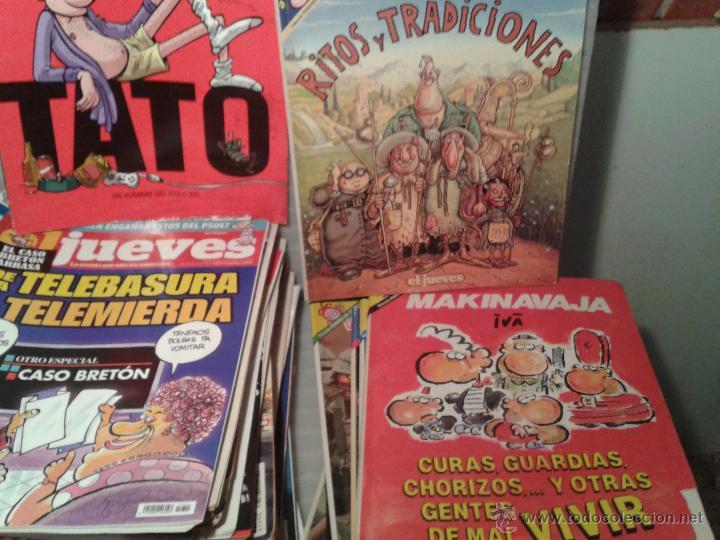 Coleccionismo de Revista El Jueves: FABULOSO LOTE DE 96 REVISTAS DEL JUEVES Y 13 EXTRAS-MARTINES EL FACHA-MAKINAVAJA Y OTROS - Foto 3 - 42971276