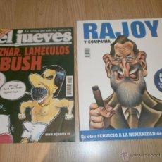 Coleccionismo de Revista El Jueves: 2 REVISTAS EL JUEVES AÑOS 2002 Y 2008.. Lote 44966913