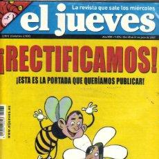 Coleccionismo de Revista El Jueves: EL JUEVES***¡ RECTIFICAMOS ! NÚMERO 1574 DEL 25 AL 31 DE JULIO 2007. Lote 45042282