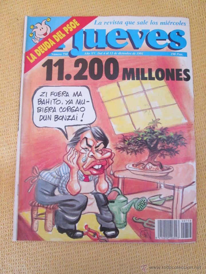 REVISTA EL JUEVES Nº 758 - 1991 (Coleccionismo - Revistas y Periódicos Modernos (a partir de 1.940) - Revista El Jueves)