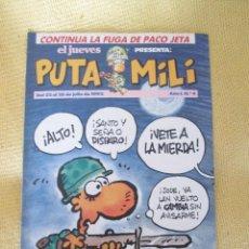 Coleccionismo de Revista El Jueves: REVISTA EL JUEVES PUTA MILI Nº 4 - 1992 . Lote 46044588