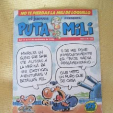 Coleccionismo de Revista El Jueves: REVISTA EL JUEVES PUTA MILI Nº 20 - 1992 . Lote 46044691