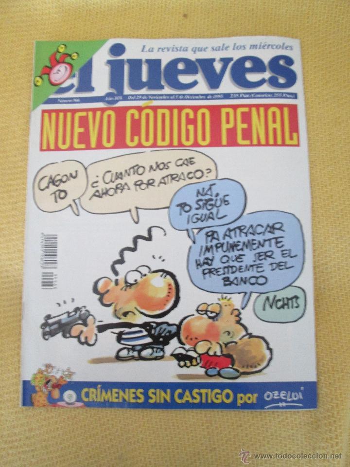 REVISTA EL JUEVES Nº 966 - 1994 (Coleccionismo - Revistas y Periódicos Modernos (a partir de 1.940) - Revista El Jueves)