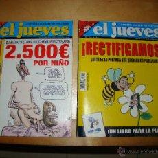Coleccionismo de Revista El Jueves: EL JUEVES, CENSURADA Y RECTIFICACIÓN.. Lote 46580564
