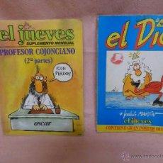 Coleccionismo de Revista El Jueves: LOTE REVISTA EL JUEVES 2 SUPLEMENTOS MENSUALES ANTIGUOS. Lote 48561236