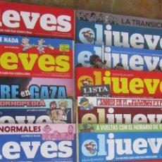 Coleccionismo de Revista El Jueves: LOTE DE 10 REVISTAS EL JUEVES AÑO 2014. Lote 49291945