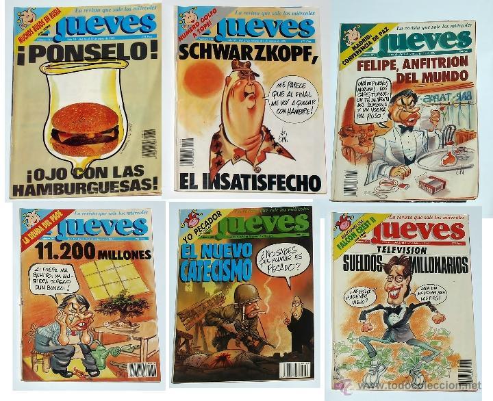 6 REVISTAS EL JUEVES 1991-1992 (Coleccionismo - Revistas y Periódicos Modernos (a partir de 1.940) - Revista El Jueves)