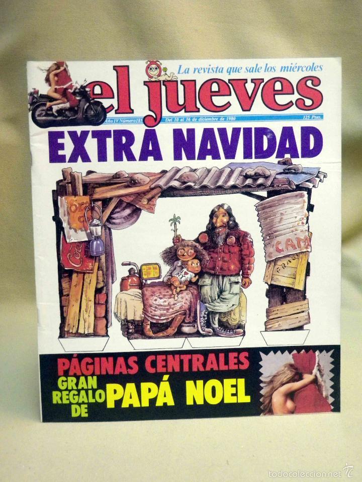 REVISTA EL JUEVES, EXTRA DE NAVIDAD, NUMERO 185, MARZO 1980 (Coleccionismo - Revistas y Periódicos Modernos (a partir de 1.940) - Revista El Jueves)