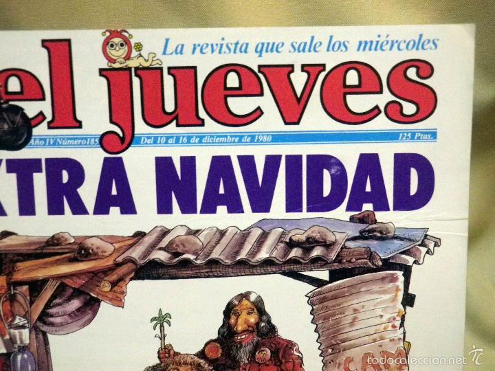 Coleccionismo de Revista El Jueves: REVISTA EL JUEVES, EXTRA DE NAVIDAD, NUMERO 185, MARZO 1980 - Foto 2 - 55690854