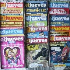 Coleccionismo de Revista El Jueves: 12 REVISTAS DE EL JUEVES. Lote 55783443