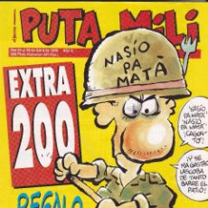 Coleccionismo de Revista El Jueves: EL JUEVES PRESENTA PUTA MILI, LOTE DE 14 REVISTAS INCLUIDO EL NÚMERO EXTRA 200. Lote 56198332