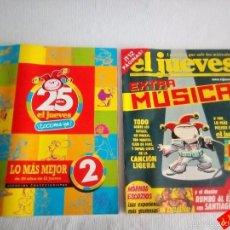 Coleccionismo de Revista El Jueves: EL JUEVES Nº 1333 + LO MÁS MEJOR 2 DE 25 AÑOS DE EL JUEVES / SÁTIRA / HUMOR. Lote 56526817
