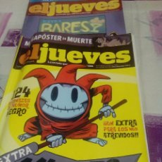 Coleccionismo de Revista El Jueves: LOTE DE 2 REVISTAS EXTRA DE EL JUEVES: EXTRA MUERTE Y EXTRA BARES. Lote 58184718
