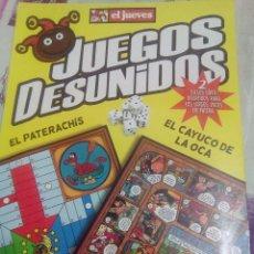 Coleccionismo de Revista El Jueves: JUEGOS DESUNIDOS - 2 JUEGOS SÚPER DIVERTIDOS PARA LOS LARGOS VIAJES EN PATERA. Lote 58185900