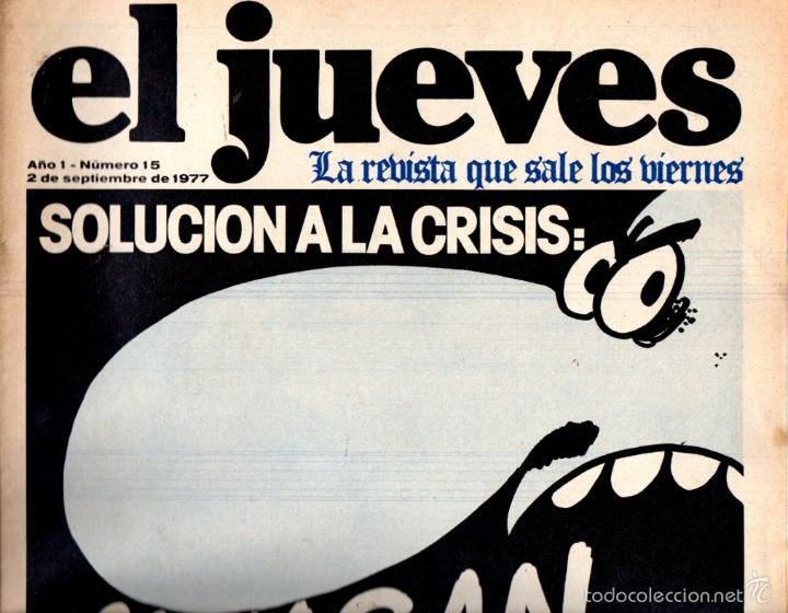 EL JUEVES Nº 15 - 2 SET. 1977 (Coleccionismo - Revistas y Periódicos Modernos (a partir de 1.940) - Revista El Jueves)