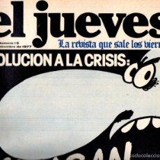 Coleccionismo de Revista El Jueves: EL JUEVES Nº 15 - 2 SET. 1977. Lote 58321847