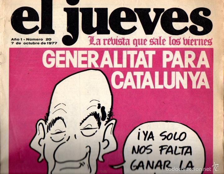 EL JUEVES Nº 20 - 7 OCT. 1977 (Coleccionismo - Revistas y Periódicos Modernos (a partir de 1.940) - Revista El Jueves)