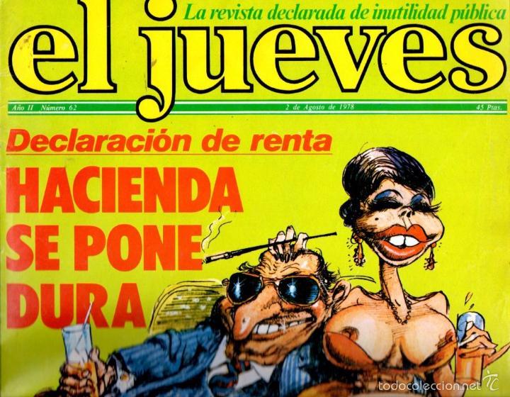 EL JUEVES Nº 62 - 2 AGO. 1978 (Coleccionismo - Revistas y Periódicos Modernos (a partir de 1.940) - Revista El Jueves)